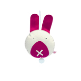 pink music rabbit