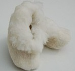 Alpaca and sheepskin baby slippers