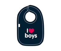 i love boys bib from snuglo