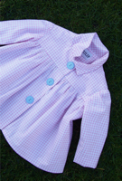 Tulip and Nettle Pink Gingham Baby Smock