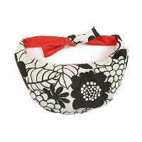 Ultimate Black White and Red Thrupenny Bits Portable Breastfeeding Cushion