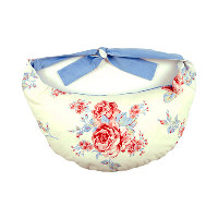 Ultimate Blue Floral Thrupenny Bits Portable Breastfeeding Cushion