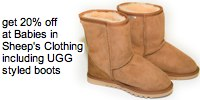 babies in sheeps clothing lambskin ugg style boots get 20% off