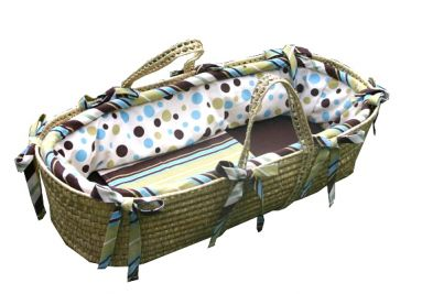 mod dots funky moses basket