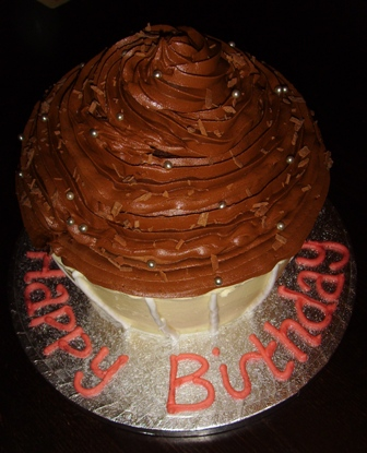 giant chocolate cupcake