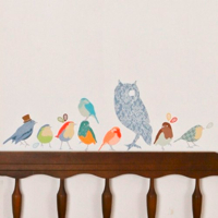 Love Mae Owl Fabric Wall stickers