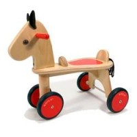 Wooden Ride-On Horse by Goula