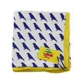 Brights and Stripes Blue Bird Blanket/Wrap