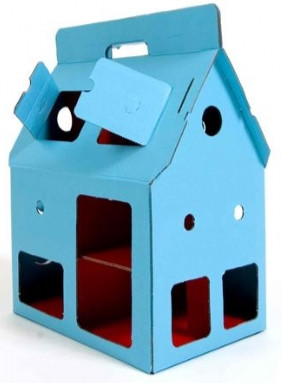 Kidsonroof Cardboard Mobile Dolls House