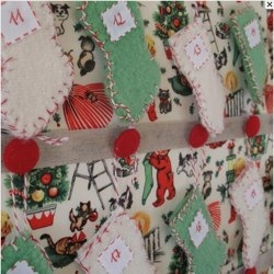 MINI-STOCKING ADVENT CALENDER BY PAPILIO