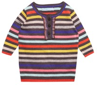 topshop mini stripe frill jumper