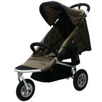 brown with silver frame air buggy mimi