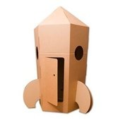 Giant Cardboard Rocket