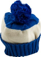 Blueberry and cream stripe bobble hat by Snadi