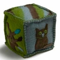 Wool Felt Play Cube With Bell by En Gry Og Sif