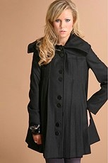 ASOS MATERNITY Pleated Swing Coat in the style of J Lo