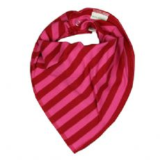 Bipi Stuff Bandana Bib Red Pink Stripe