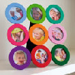 rainbow circles picture frame