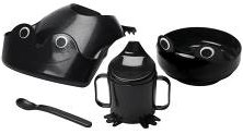 MATA 4-piece eating set MATA 4-piece eating set in black