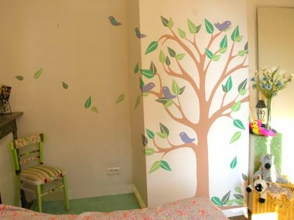 Nursery Decor Ideas: Painting by numbers with Wallstory Murals
