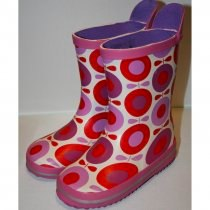 Katvig Big Apple Wellies - Red/Purple