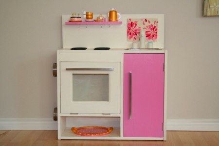 pretend play kitchen made from ikea's Vika Furusund
