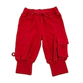 Kik Kid 3/4 Length Red Pocket Pants