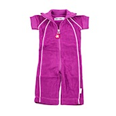 Kik Kid Short Sleeved Terry Jumpsuit in Purple