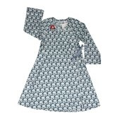Kik Kid Woven Silver Flower Cotton Wrap Dress