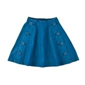 Mini A Ture Haline A shaped Light Denim Skirt