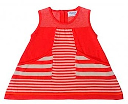 Pima Cotton striped dress bonnie baby