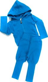 Smurf blue organic tracksuit by Shampoodle