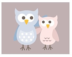 Owls (Twit and Twoo) from Milly Bee with chocolate background
