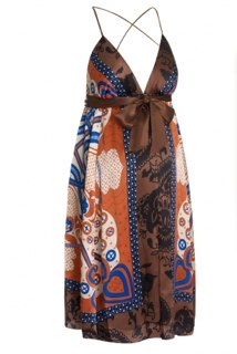 single and blossom silk print dress by Blossom Mother and Child