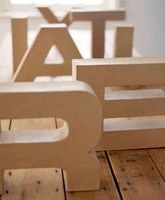 recycled chunky 3d card letters
