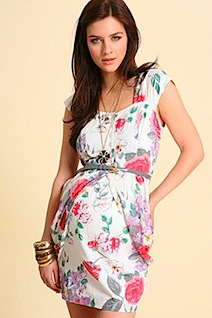 ASOS MATERNITY Big Rose Print Dress
