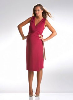 Duo Sleeveless Wrap Dress by Isabella Maternity