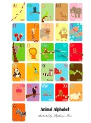 Animal Alphabet 11x17 Poster Limited Edition by Stephanie Fizer