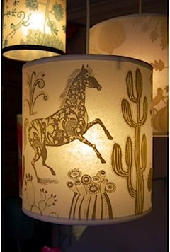 Horse lampshade by Lush Designs