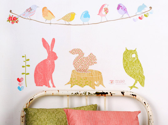 love mae fabric wall stickers new wall stickers technology decals and partyware from