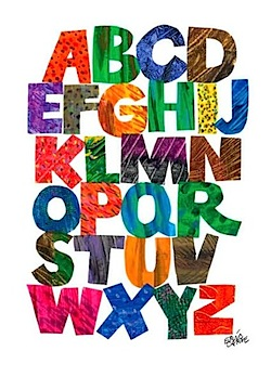 abc print from eric carle's decorative prints