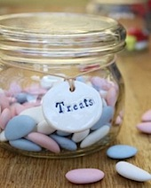 porcelain treats jar label
