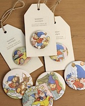 vintage noddy badges and magnets