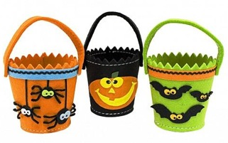 Image result for halloween bucket homemade felt