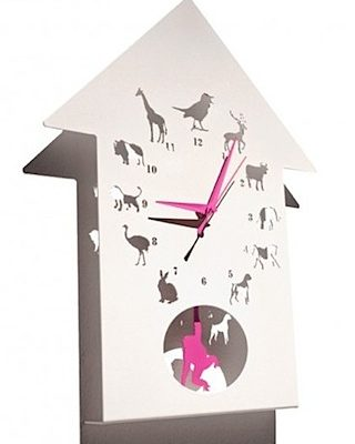 Animalask Clock by Westergaard Designs