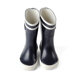 navy aigle wellies