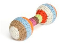 anne-claire petit striped rattle