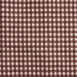 Fitted cot sheet - Cream on Chocolate Gingham