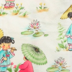 Fitted cot bed sheet - China Dolls