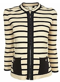Maternity Stripe Braid Jacket